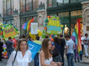A Mini Gay Pride Parade in Lisbon, 2011