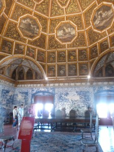 King Manuel's Coat of Arms Room in National Palace at Sintra, Portugal
