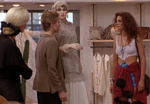 Julia Roberts with snobby salesperson in Pretty Woman