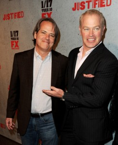 Graham Yost at Justified Premiere on FX
