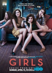 The cast of HBO series Girls