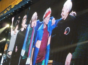 Ronnie Wood, Mick Jagger, Mick Taylor, Keith Richards and Charlie Watts take a final bow on May 25 2013 at Toronto ACC during 50 and Counting Anniversary Tour