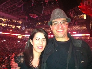 A Gen Y and Baby Boomer enjoying the Rolling Stones 2013 50 and Counting Tour Together on May 25 at Toronto ACC