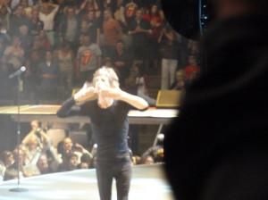 Mick Jagger salutes and waves goodbye to the Toronto crowd on May 25th on the 50 and Counting 50th anniversary tour.