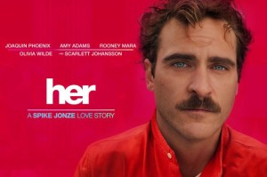 Poster for Her the Movie by Spike Jonze featuring Joaquin Phoenix