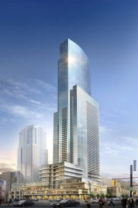 Aura is the tallest condo in Toronto at College Park