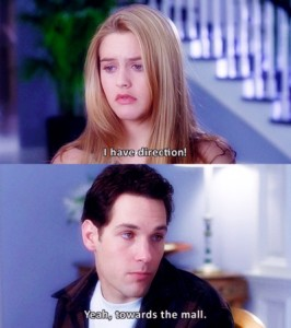Cher Horowitz and Josh talking about driving
