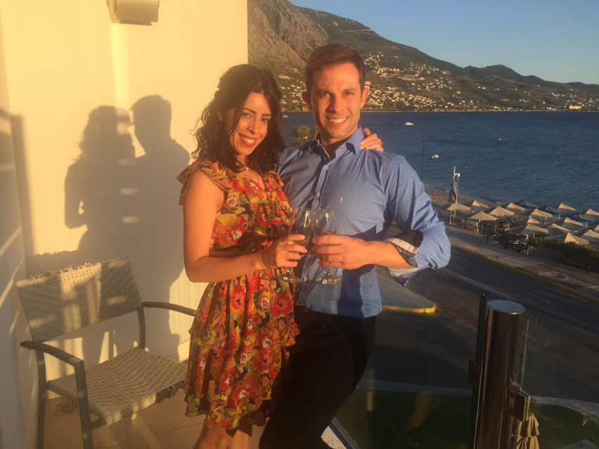Engagement Champagne toast