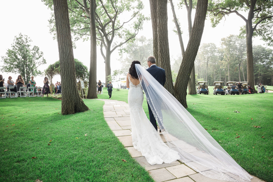 Bridal Entrance with Father at Toronto Hunt Club