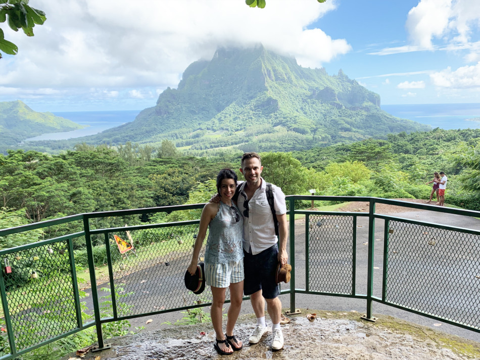 View from Belvedere Lookout in Moorea French Polynesia