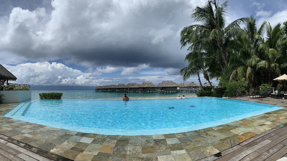 Cloudy Skies at the Sofitel in Moorea